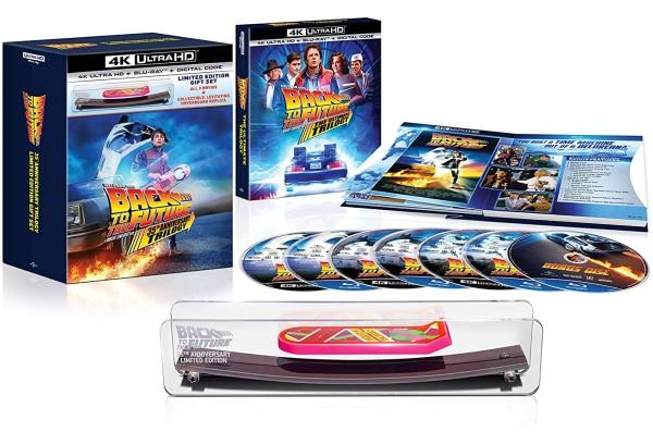 Nuevo pack de la trilogía Regreso al futuro 35 aniversario incluye un monopatín volador