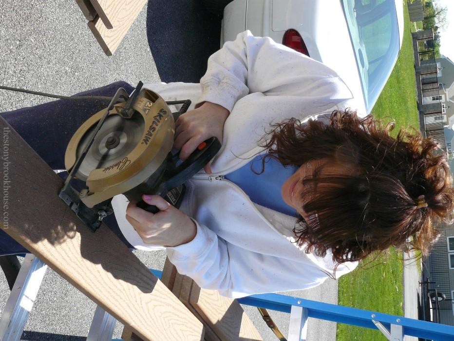 Me using a circular saw