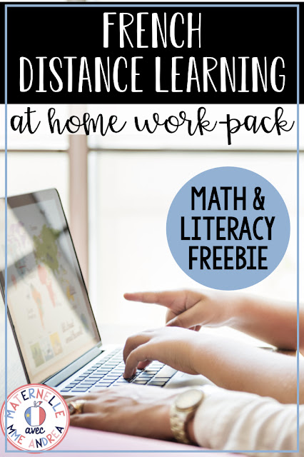 Looking for some simple, printable math and literacy activities to send home for distance learning, in French? These 10 activities are perfect for French primary teachers!