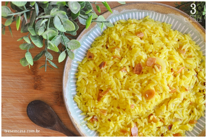 receita de arroz de açafrão