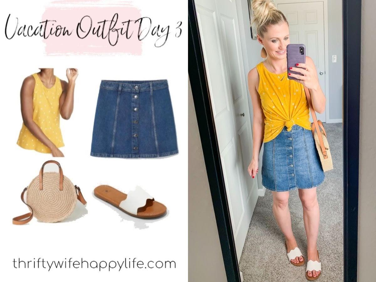 Mom friendly simple summer vacation wardrobe capsule