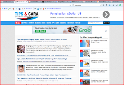cara screenshot full di komputer