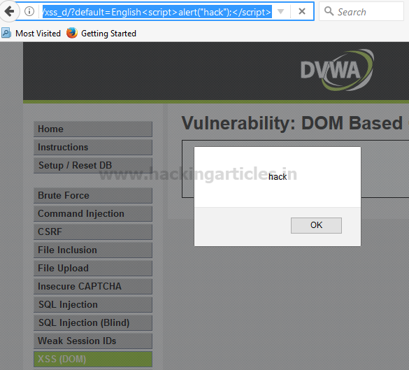 Understanding DOM Based XSS in DVWA (Bypass All Security)