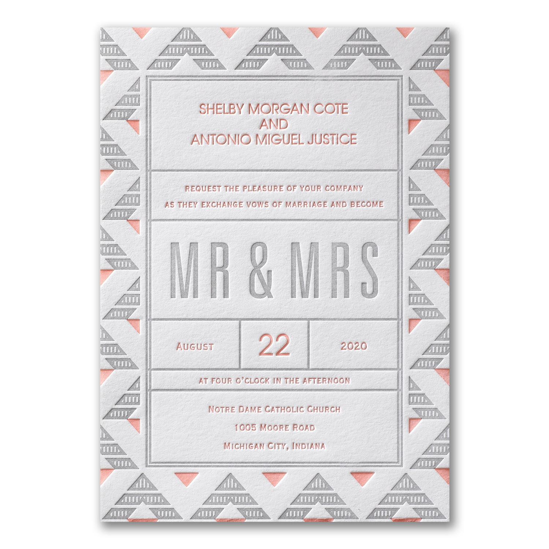 Occasions to blog geometric designed wedding invitations deco geometric stopboris Image collections