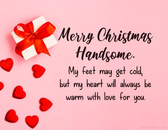 Romantic Christmas Messages for him
