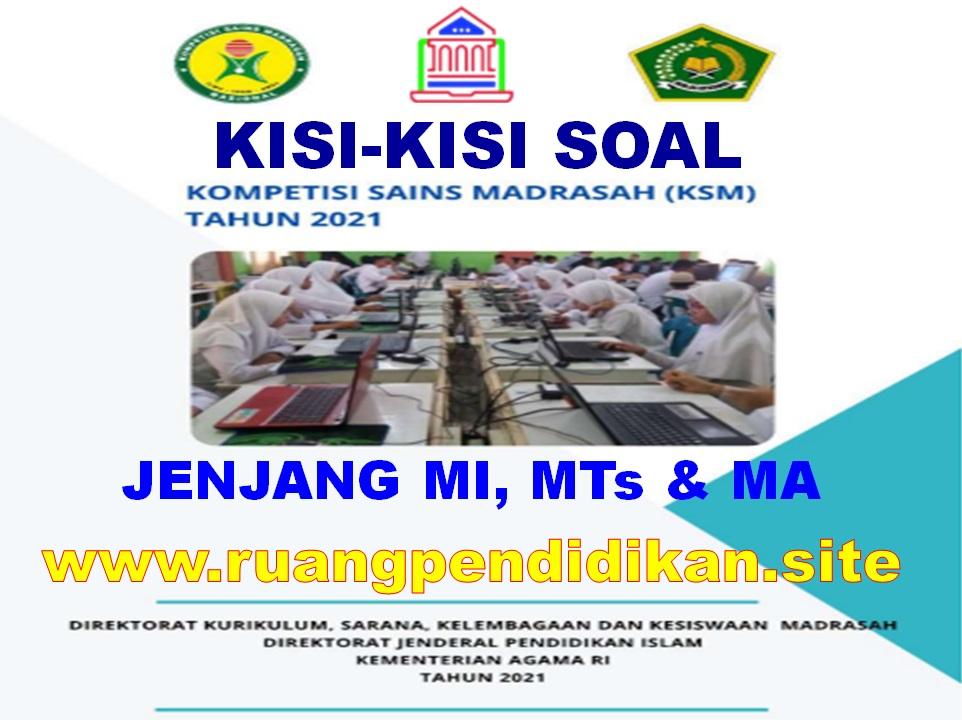 Kisi-kisi KSM Jenjang MI, MTs Dan MA