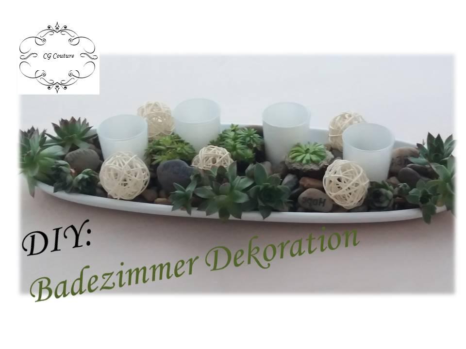 diy badezimmer dekoration selber machen mit sukkulenten fr hlingsdekor cg couture der. Black Bedroom Furniture Sets. Home Design Ideas