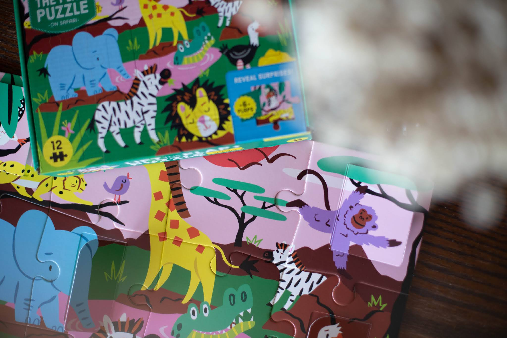Puzzle z okienkami Safari mudpuppy