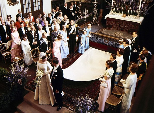 Queen Margrethe II (Crown Princess Margrethe) got married to the late Henrik de Laborde de Montpezat, at Holmens Kirke