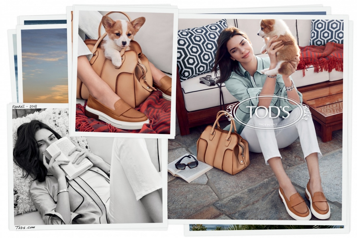 80501de77990 Kendall Jenner is the face of the Tod s new Spring Summer 2018 ad campaign  photographed by Mikael Jansson. She models here the brand s new Sella bag  and ...