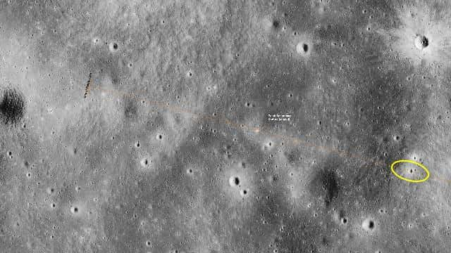 Apollo 12 Lunar module impact site