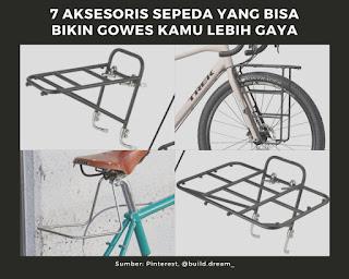 Rak Sepeda sebagai aksesoris bisa bikin gowes lebih gaya