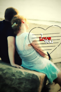Love is Life Cute Couple Mobile Wallpaper