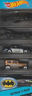 Front of Hot Wheels Batman 5-Pack 2015