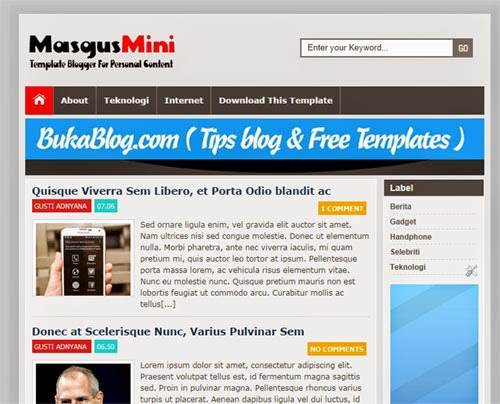 Template Seo Friendly MasguMini