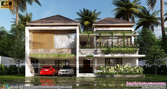 Contemporary style green home in Kerala
