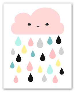 kawaii cloud art print