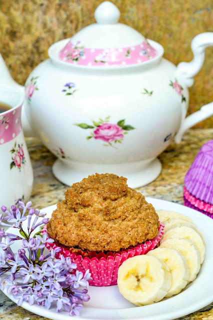 Banana Blueberry Oat Bran Muffins