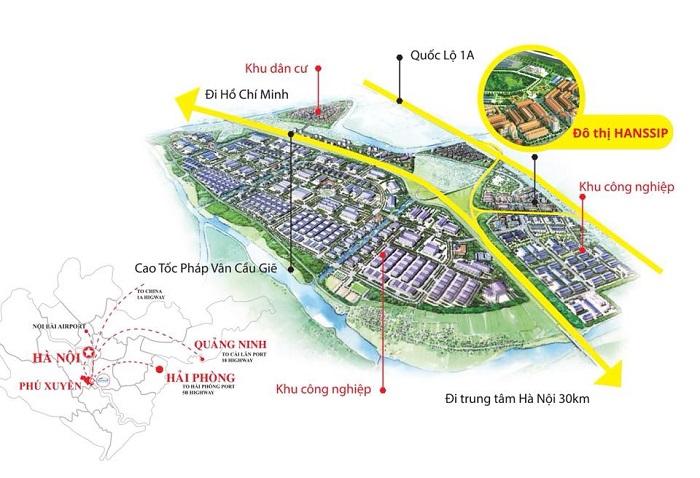 Inoha City Sở hữu vị trí đắc địa tại Khu công nghiệp Phú Xuyên