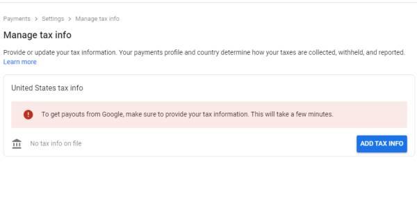 Cara Mengisi Tax Information Google Adsense, Potongan Pajak 0 %