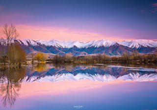 Lake Ruataniwha, MacKenzie Country, New Zealand, NZ, Reflections, Twizel, Winter