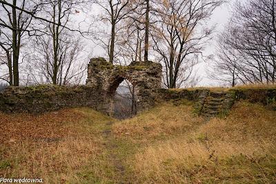 Zamek Nowy Dwór, brama wjazdowa od strony wschodniej