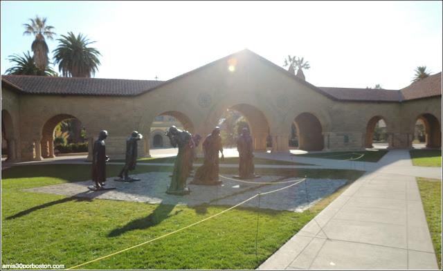 Burgueses de Calais, Memorial Court, Universidad de Stanford
