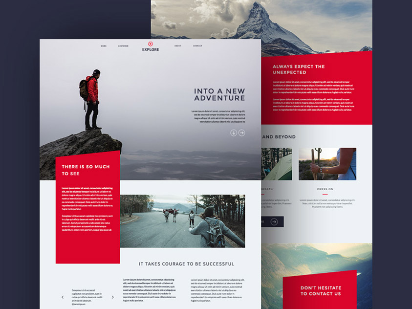 Explore : Free Travel PSD Website Template