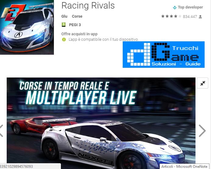 Trucchi  Racing Rivals Mod Apk Android v6.0.1