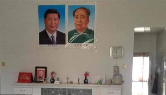 Gila! China Paksa Umat Kristiani Ganti Foto Yesus dengan Pimpinan Komunis