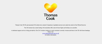 Travel company Thomas Cook ceases trading with immediate effect