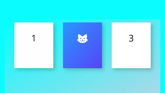 Simple Flippy Cards with 3D Effect