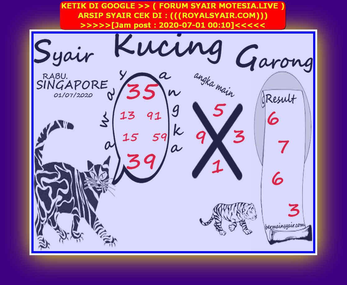 Kode syair Singapore Rabu 1 Juli 2020 196