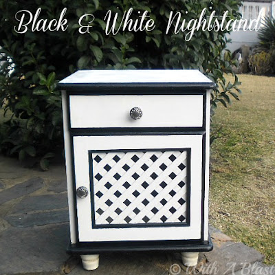 With A Blast: Black & White Nightstand - DIY    #makeover #furniture #painting #furniturepainting #nightstand