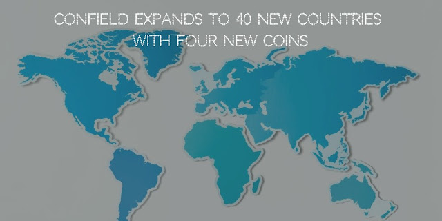 ConField expands to 40 new Countries with Four new Coins
