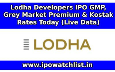 Lodha Developers IPO GMP