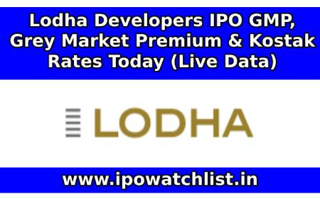 Lodha Developers IPO Grey Market Premium & Kostak Rates Today (Live Data)
