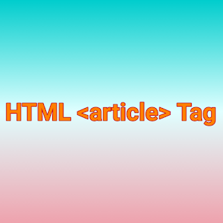 HTML <article> Tag