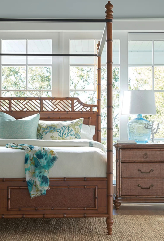 Tropical Island Inspired Canopy Bed