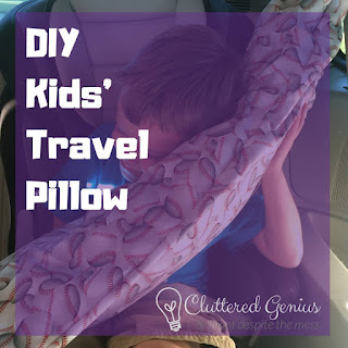 Blog With Friends, a multi-blogger project based post incorporating a theme, Family Gathering | DIY Kids' Travel Pillow by Lydia of Cluttered Genius | Featured on www.BakingInATornado.com