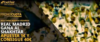 betfair promocuota Real Madrid gana Shakhtar 21 octubre 2020