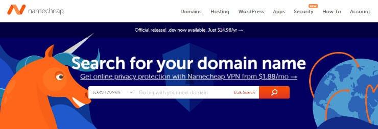 NameCheap  - Generator Memilih Nama Domain