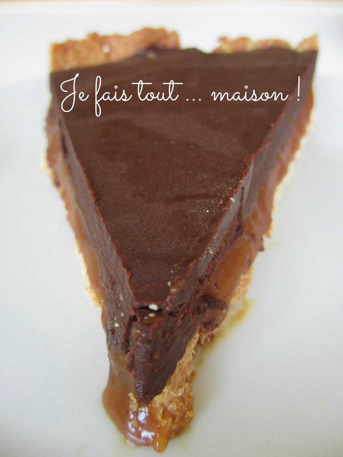 Recette Caramel Beurre Salé Cyril Lignac tarte chocolat caramel