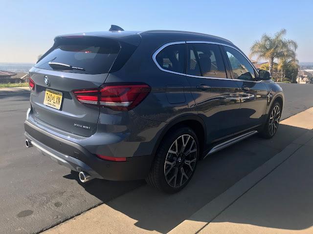 Rear 3/4 view of 2020 BMW X1 xDrive28i