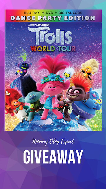 Trolls World Tour Dance Party Bluray DVD Movie Giveaway