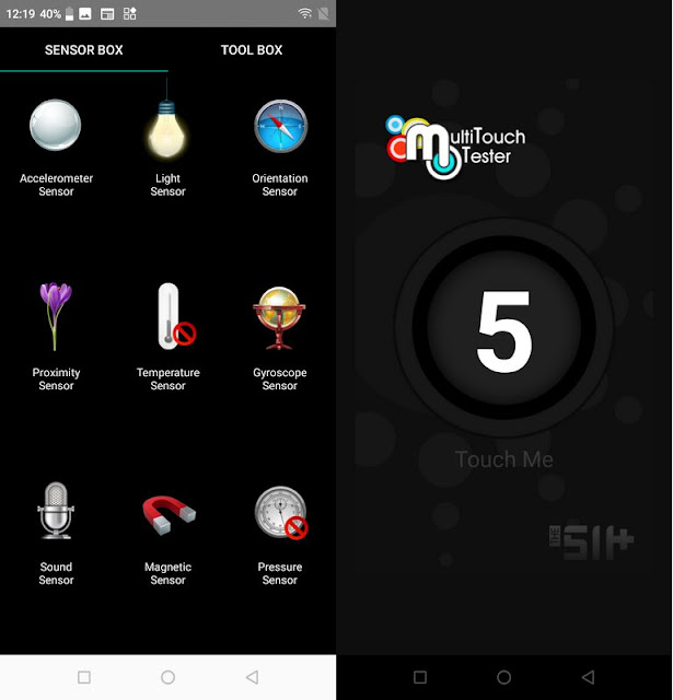 Sensorbox for Android & Multitouch Tester Luna X Prime
