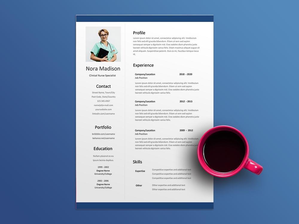 Free Clinical Nurse Specialist Resume Template