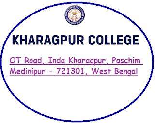 Kharagpur College, OT Road, Inda Kharagpur, Paschim Medinipur - 721301, West Bengal