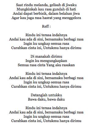 Lirik Lagu Rindu Serindu Rindunya : lirik, rindu, serindu, rindunya, Lirik, Tentang, Rindu