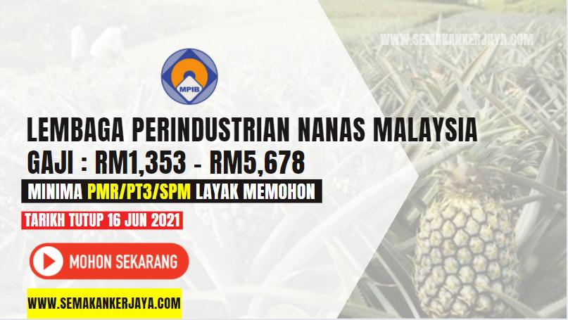 Jawatan Kosong Lembaga Perindustrian Nanas Malaysia 2021